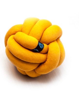 Knotenkissen gelb